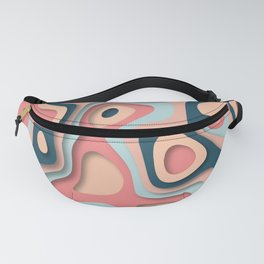 Paper cut effect abstract background Fanny Pack