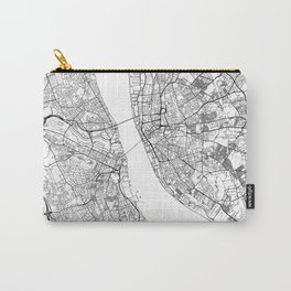 Liverpool Map White Carry-All Pouch