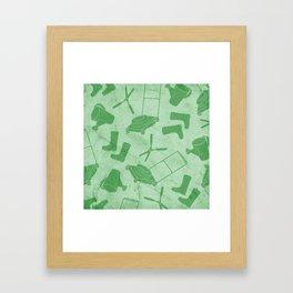 GARDEN TOOL KIT PATTERN Framed Art Print