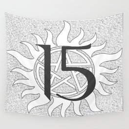 SPN Print (White) Wall Tapestry