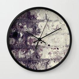 Ultra Violet Brick Wall Wall Clock