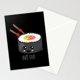 Eat Me in black Stationery Cards