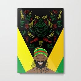 Reggae Guy Metal Print