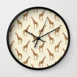 Giraffe animal minimal modern pattern basic home dorm decor nursery safari patterns Wall Clock