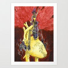 Run The Heart Art Print