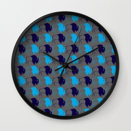 Blue Buffalo Nation Wall Clock