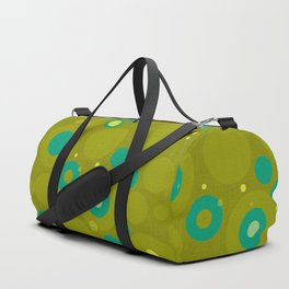 """""""Retro Dots Colorful"""" (Olive & Teal) Duffle Bag"""