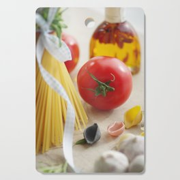 Fresh Tomato with Pasta  in the kitchen Cutting Board
