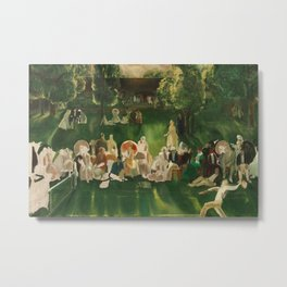 "Classical Masterpiece ""The Tennis Tournament"" by George Bellows, 1920 Metal Print"