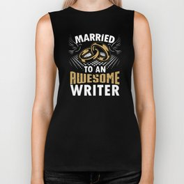 Married To An Awesome Writer Biker Tank