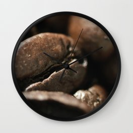 Coffee beans macro photo - fine art - still life - interior decoration, for bar & restaurant, n° 2 Wall Clock