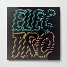 Electro Music Metal Print
