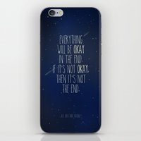 fault in our stars iPhone & iPod Skins featuring The Fault In Our Stars by Adel