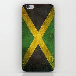 Old and Worn Distressed Vintage Flag of Jamaica iPhone Skin