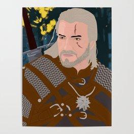 Geralt of Rivia Portrait Poster