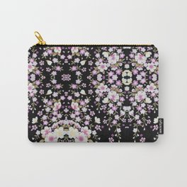 Cascading Pink Flowers Carry-All Pouch