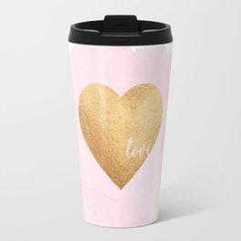 GOLD HEART PRINT, Hot Pink,Gold Foil,Heart Print,Printable Art,Love Sign,Love Quote,Love Art,Girls R Travel Mug