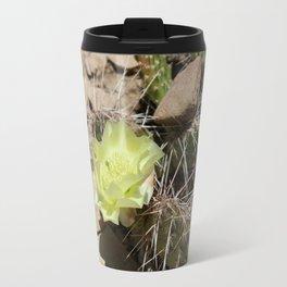 Cactus with Yellow Flower Travel Mug