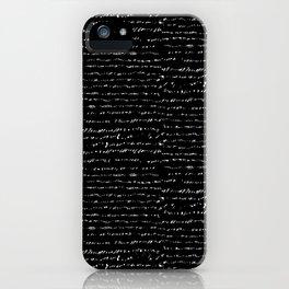 Gibberish - Black Ground iPhone Case