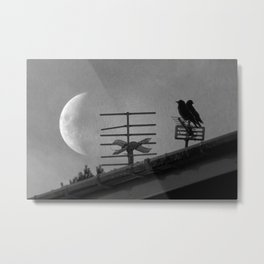 Nature love birds love you to the moon and back Metal Print