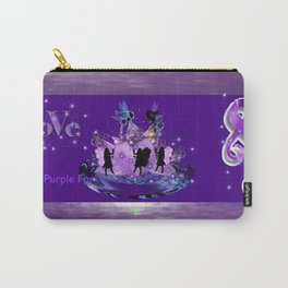 Power Purple For a Cure - Power of Love Carry-All Pouch