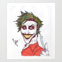 Joker Facelift Art Print