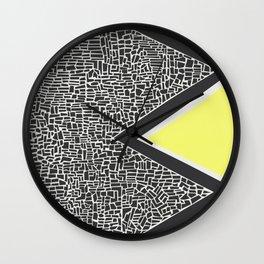 Abstract Mountain Range Wall Clock