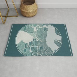 Seattle Map Planet Rug