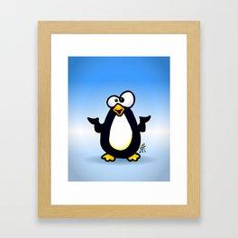 Pondering Penguin Framed Art Print