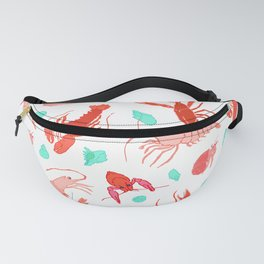 Dance of the Crustaceans in Pearl White Fanny Pack
