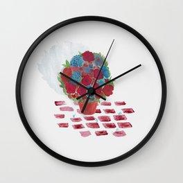Flowerpot Wall Clock