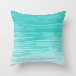 Bahama Blue Line Art, Variable Opacity Color Study - 2 Throw Pillow
