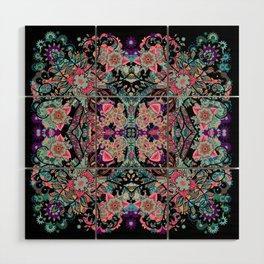 Mandala Colorful Boho Wood Wall Art