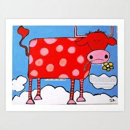 Til the Cows Come Home Art Print