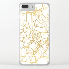 KUALA LUMPUR MALAYSIA CITY STREET MAP ART Clear iPhone Case
