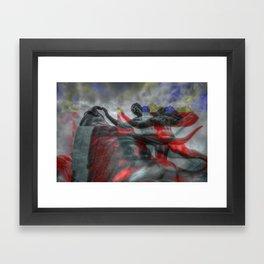 Ride the Bull (Glitch) Framed Art Print
