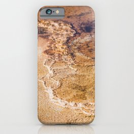 Hot Springs Orange - Abstract Nature Photography iPhone Case