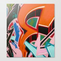 graffiti Canvas Prints featuring Graffiti by Dreks