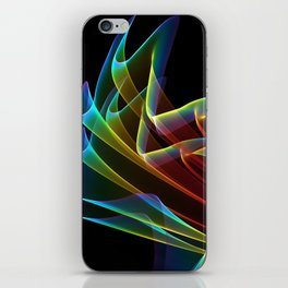Dancing Northern Lights, Abstract Summer Sky iPhone Skin