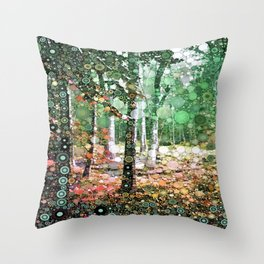 :: Walk in the Woods :: Throw Pillow