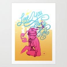 Love You Long Time Art Print