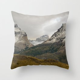 Torres del Paine National Park Chile Throw Pillow