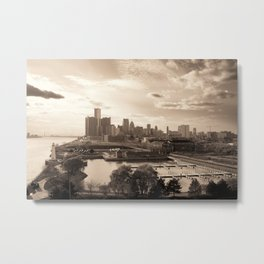 Detroit Skyline Metal Print
