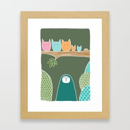 Sleepy Birds Framed Art Print