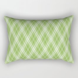 Color of the Year 2017 Designer Colors Greenery Argyle Plaid Rectangular Pillow