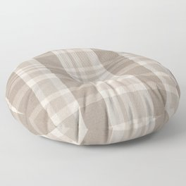 Checkered, Plaid Prints, Warm Brown Floor Pillow