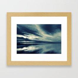 Skylight in Blue Framed Art Print