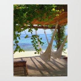 Hammock at the beach Poster
