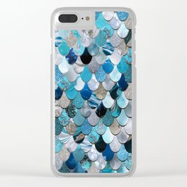 Mermaid Ocean Blue Clear iPhone Case