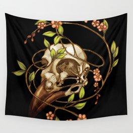 Bird Skull & Vine Wall Tapestry